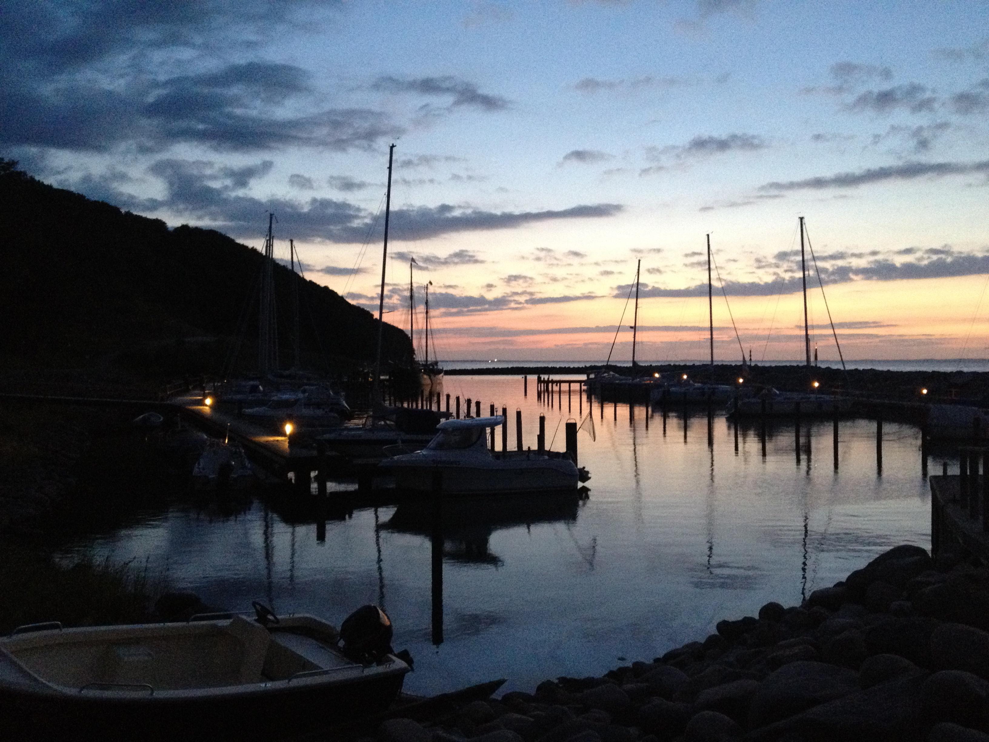Lohme: Hafen - Herbst 2012