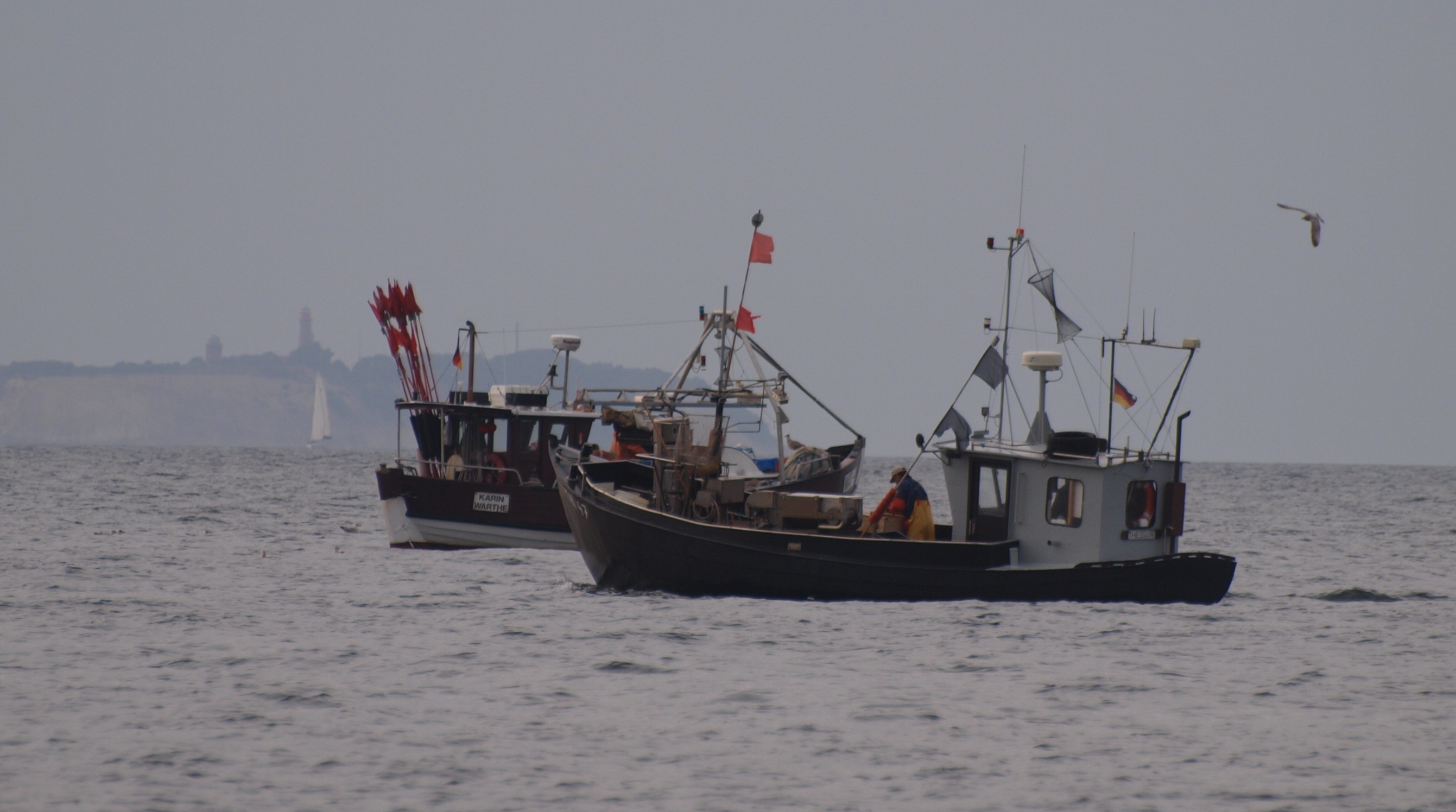Lohme: Fischerboote in der Tromper Wiek - Herbst 2012